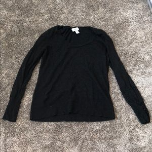 Loft Crew Neck Black Sweater Size L